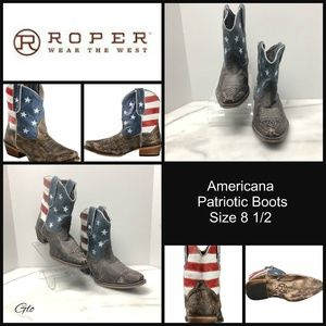 Roper Americana Patriotic Boots – Size 8.5